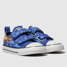 converse blue all star 2v dino lo trainers toddler