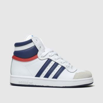 Adidas White & Blue Top Ten Hi Boys Toddler