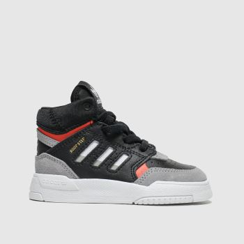 Adidas Black & Grey Drop Step Boys Toddler