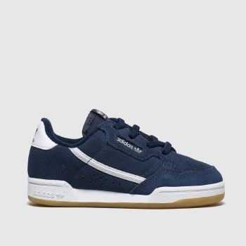 Adidas Navy & White Continental 80 c2namevalue::Boys Toddler