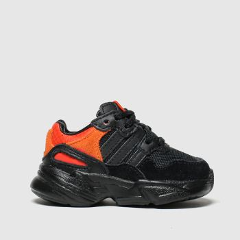 adidas black & orange yung 96 trainers toddler