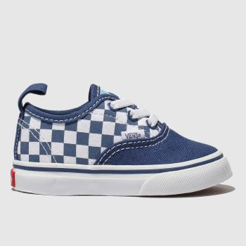Vans Navy & White Authentic Elastic Lace Boys Toddler