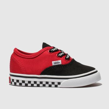 Vans Black & Red Authentic Logo Pop Boys Toddler