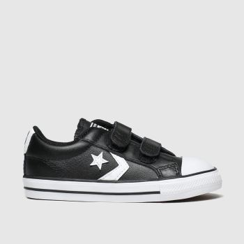 Converse Black & White Star Player 2V Mars Boys Toddler