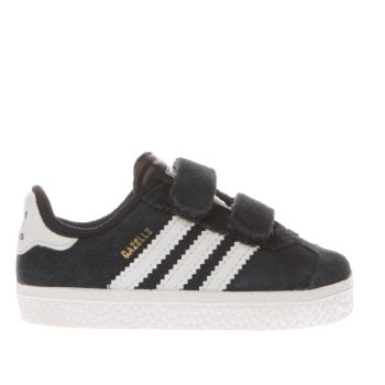 black adidas gazelle trainers boys