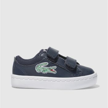 Lacoste Navy & Green STRAIGHTSET Boys Toddler