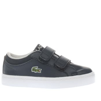 LACOSTE NAVY STRAIGHTSET BOYS TODDLER TRAINERS