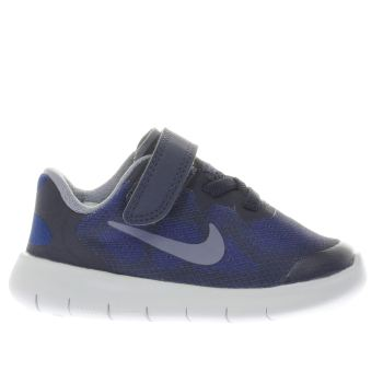 NIKE NAVY FREE RUN 2 BOYS TODDLER TRAINERS