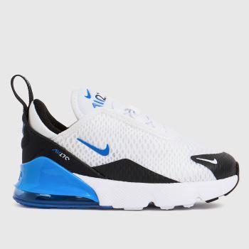 Nike White & Blue Air Max 270 Boys Toddler
