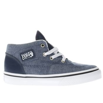 VANS NAVY HALF CAB BOYS TODDLER TRAINERS