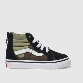 Vans Black & Green SK8-HI ZIP Boys Toddler