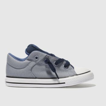 Converse Grey & Navy All Star High Street Boys Toddler
