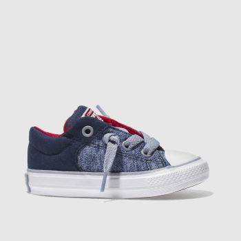 Converse Navy All Star High Street Slip Boys Toddler