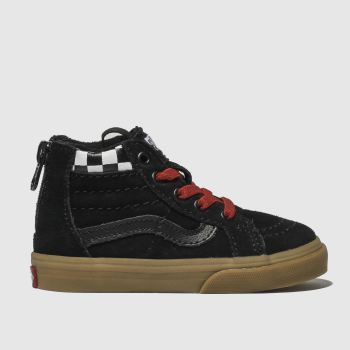 Vans Black & White Sk8-Hi Zip Boys Toddler