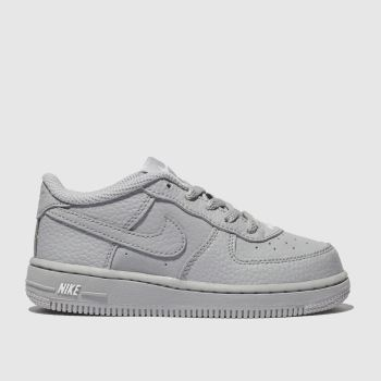Nike Light Grey FORCE 1 LEATHER 2 Boys Toddler