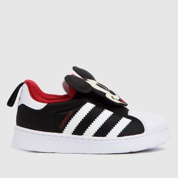 adidas Black & White Superstar 360 Boys Toddler
