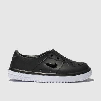 Nike black foam force 1 trainers toddler