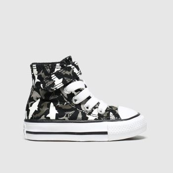 Converse Black & Grey 1v Hi Shark Bite Boys Toddler