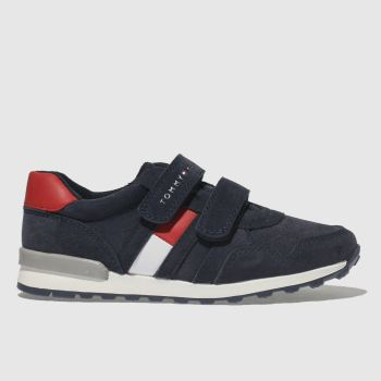 Tommy Hilfiger Navy & Red Velcro Sneaker Classic Boys Toddler