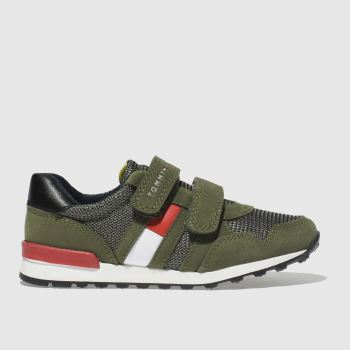 TOMMY HILFIGER KHAKI VELCRO SNEAKER CLASSIC TRAINERS TODDLER