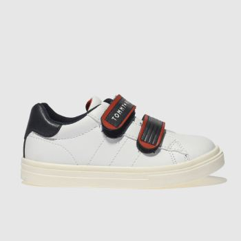 Tommy Hilfiger White & Navy CONTRAST VELCRO SNEAKER Boys Toddler