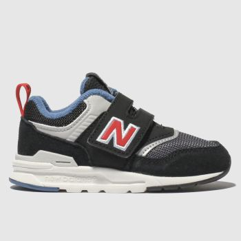 new balance black & grey 997 trainers toddler