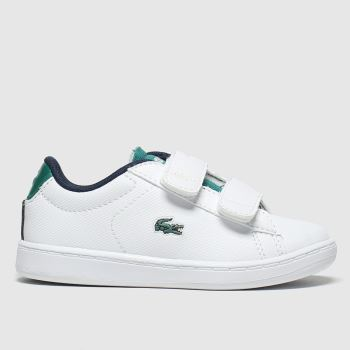 Lacoste White & Green Carnaby Evo Boys Toddler