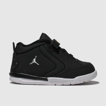 nike jordan black & white big fund trainers toddler