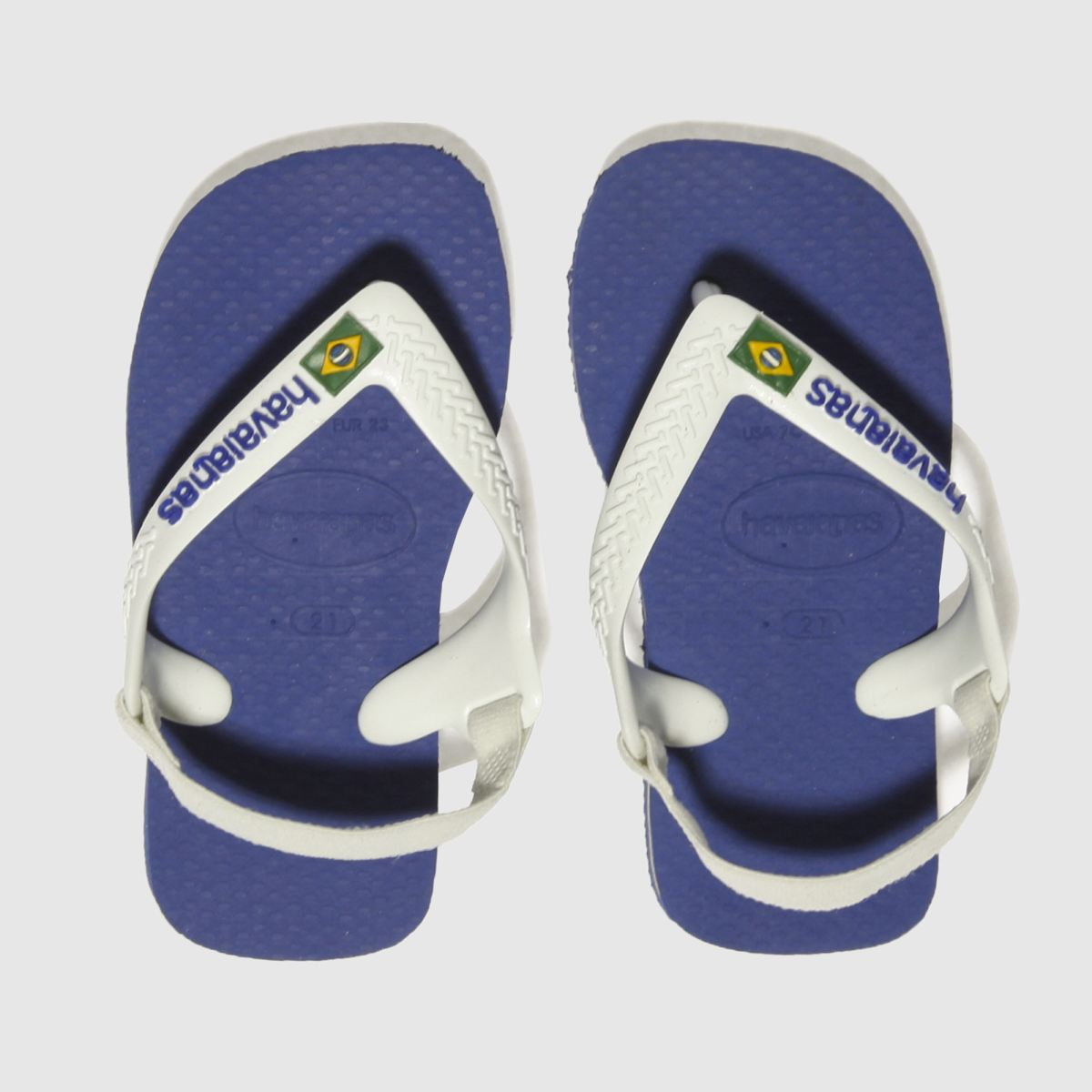 Havaianas Blue Brasil Logo Sandals Toddler