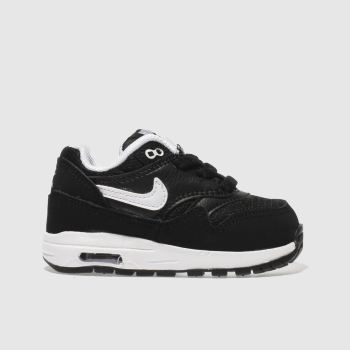 Nike Black & White AIR MAX 1 Boys Toddler
