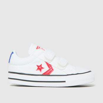 Converse White & Red Star Player 2v Lo Boys Toddler