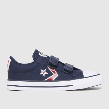 Converse Navy & Red Star Player 2v Lo Boys Toddler
