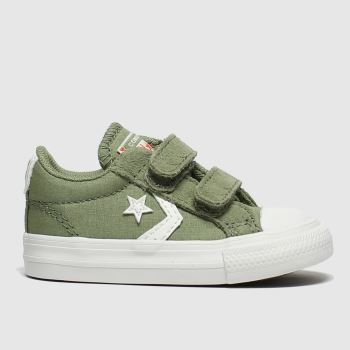 Converse Khaki Star Player 2v Lo Boys Toddler#