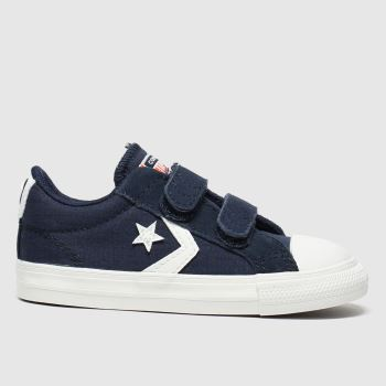 Converse Navy & White Star Player 2v Lo Boys Toddler#