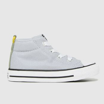 Converse Light Grey Street Mid Boys Toddler