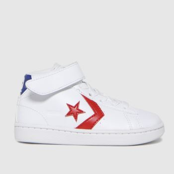 Converse White & Red Pro Leather 1v Hi Boys Toddler