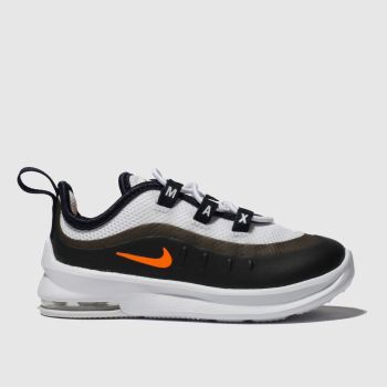 Nike White & Orange Air Max Axis Boys Toddler