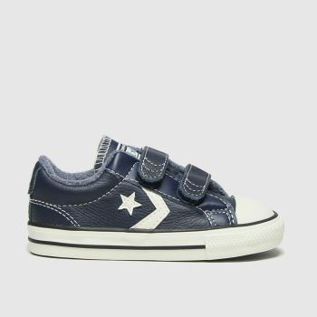 Converse Navy & White Star Player 2v Lo Mc Boys Toddler