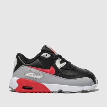 hot sale online fc909 9f525 Nike Black   Red Air Max 90 Boys Toddler