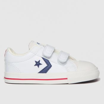 Converse White & Navy Star Player Ev 2v Lo Boys Toddler