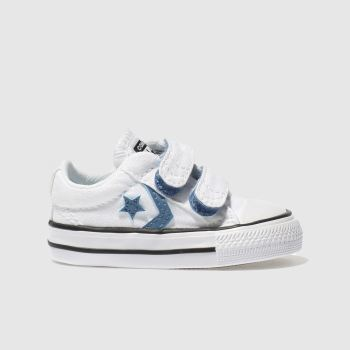 Converse White & Blue Star Player 2V Boys Toddler