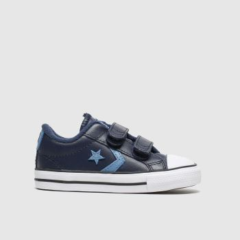 Converse Navy & Pl Blue Star Player 2v Lo Boys Toddler