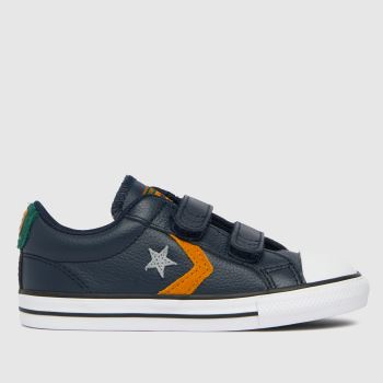 Converse Navy Star Player 2v Leather Boys Toddler