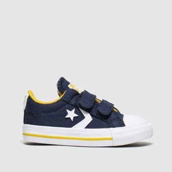 Converse Navy & White Star Player 2v Lo Boys Toddler