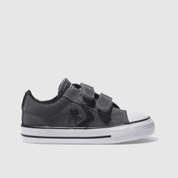 f0b847c27fb616 CONVERSE DARK GREY STAR PLAYER TRAINERS TODDLER