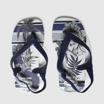 Havaianas White & Navy Baby Chic Ii Boys Toddler