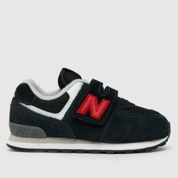 New balance Black & Red 574 V Boys Toddler