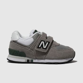 new balance grey 574 trainers toddler