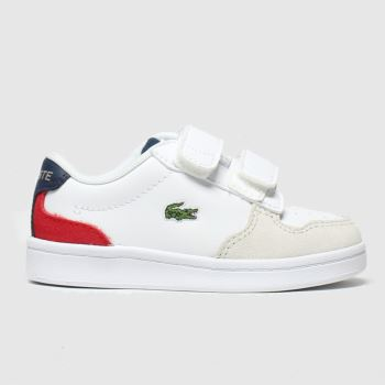 Lacoste White & Red Masters Cup Boys Toddler