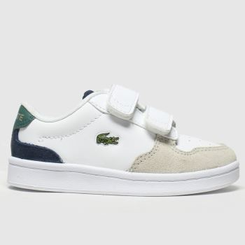 Lacoste White & Green Masters Cup Boys Toddler